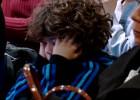 ¡Cómo se aburrió el hijo de Marcelo durante los discursos!