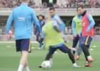 ¡Messi humilló a Mascherano con un tremendo túnel!