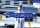 Chory Castro ya luce como nuevo jugador del Málaga