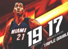 Extraterrestre Whiteside : ¡triple-doble con 11 tapones!