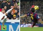 Los 10 grandes goles `calcados´ entre la BBC y la MSN