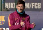 Messi se entrena con el grupo y podría jugar ante el Málaga