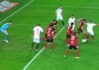 El Mirandés reclamó fuera de juego en el gol de N´Zonzi