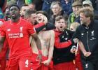 Lallana da una victoria épica al Liverpool en el minuto 95