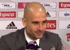 La distracción de Guardiola a causa de la tos de un periodista