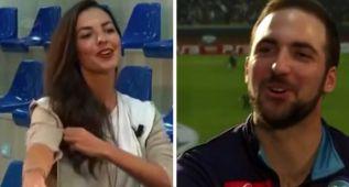¿Qué le propuso la periodista a Higuaín para dejarle esta cara?
