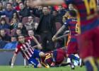 Los dos terribles patadones del Atlético a Messi y Suárez