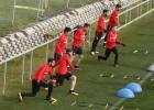 El Atlético trabajó preparando el partido frente al Eibar