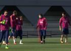Messi se reincorpora al trabajo con el resto del equipo