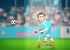Grandes desafíos para Messi viajando en su monopatín