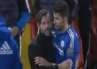 ¡Diego Costa tuvo otro lío y Quique tuvo que tranquilizarle!
