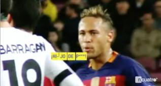 """Neymar llamó """"Hijo de p..."""" a Barragán delante del árbitro"""