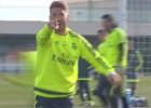 Sergio Ramos dedica su golazo del entrenamiento a... ¡Zizou!