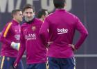Último entrenamiento del Barça antes del Levante