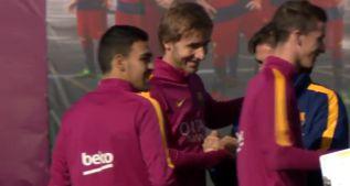 El Barcelona volvió al trabajo para preparar la Copa