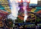 Increíble: De escenario a campo de fútbol en 4 minutos