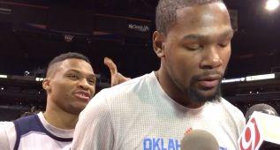 Westbrook boicotea a Durant y ¡él no se entera de nada!