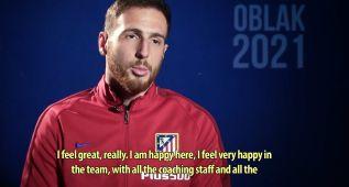 """Oblak: """"Estoy muy feliz aquí, por eso renuevo el contrato"""""""