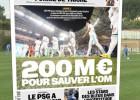 El Olympique, a la venta por 200 millones de euros