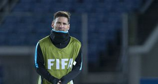 Messi volvió a entrenarse con el equipo tras su operación