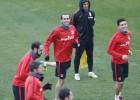 La gran novedad, Godín vuelve a entrenar con el Atlético