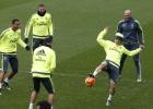 El Madrid preparó el partido ante el Athletic entre risas