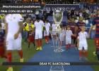 El Sevilla avisa al Barça con un vídeo recordando la Supercopa