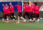 ¿Con qué se divierten Filipe y Giménez en el entrenamiento?