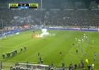Suspenden el Paok-Olympiakos por invasión de campo