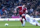 La lesión de Hugo Mallo en una carrera detrás de Cristiano
