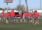 El Sevilla prepara el partido ante el Basilea con intensidad