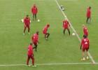 ¡Impresionante 'tontito' de 61 toques en práctica del Bayern!