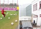 La última diversión del Bayern: meter el balón en una ventana