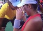 Muguruza a su técnico entre lágrimas: