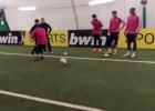 Evra humillado: caño épico más gol de un 'freestyler' al francés
