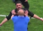 Los nervios de Gattuso como entrenador: ¡Se volvió loco!