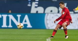 El gol de '9' de Chicharito para dar la vuelta al partido