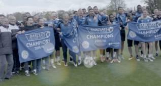 La emotiva celebración del histórico triunfo del Leicester