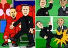 Cómica parodia de Simeone en el agónico final del Allianz