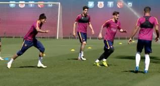 El Barça sigue preparando el partido ante el Espanyol