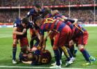 El Barcelona sabe sufrir ante el Sevilla y corona su doblete