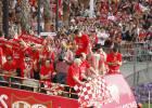 El Sevilla celebra la Europa League con sus seguidores