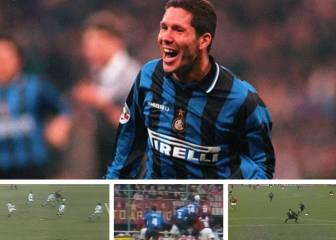Los 4 maravillas en San Siro de Simeone como jugador