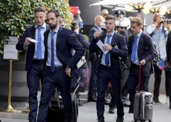 El Atleti ya está en Milán, una multitud le recibió en el hotel