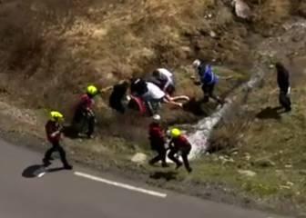 La imagen que congeló al pelotón: Zakarin tras su caída