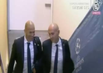 Zidane entró en San Siro luciendo una gran sonrisa