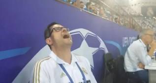 La loca celebración de Roncero con el gol de Sergio Ramos