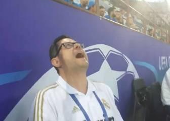 La loca celebración de Roncero con el gol de Ramos