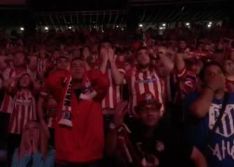 La reacción de la afición del Atleti al fallo de Griezmann