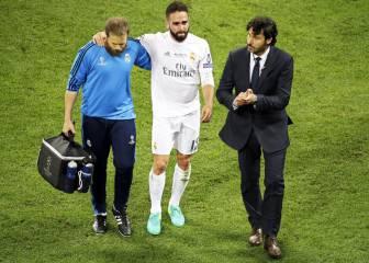 Carvajal se retiró entre lágrimas: peligra la Eurocopa